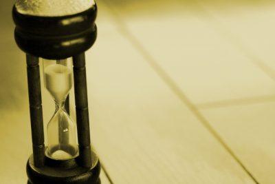 砂時計の様子