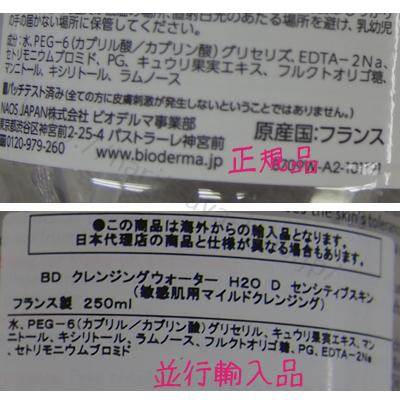 ビオデルマ サンビシオH2ODの正規品と並行輸入品の違い