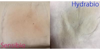 ビオデルマのクレンジング「サンビシオ」と「イデラビオ」拭き取り化粧水として使用したコットン