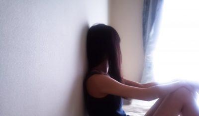 ストレスで憂鬱な女性の画像