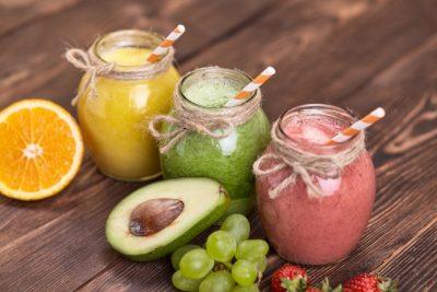 3種類のフルーツジュース