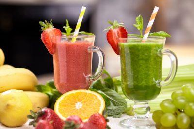 2種類のフルーツジュース