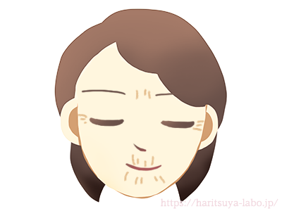 表情ジワの方のイラスト