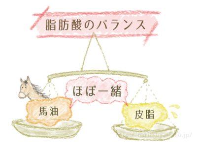 脂肪酸のバランスイラスト