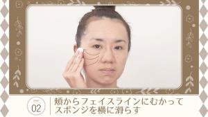 スポンジの使い方の手順の写真