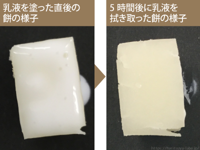 レビュー 餅実験 レモン乳液