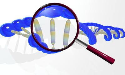 遺伝子と虫眼鏡