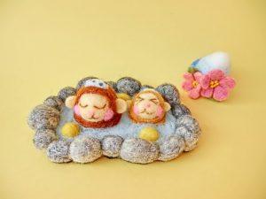 猿 温泉 作り物