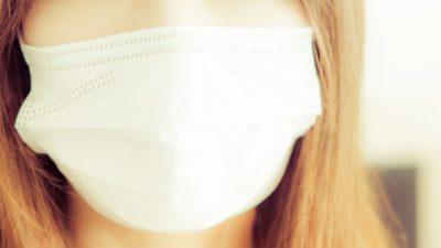 マスクのドアップ女性画像