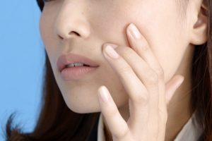 女性の肌の写真