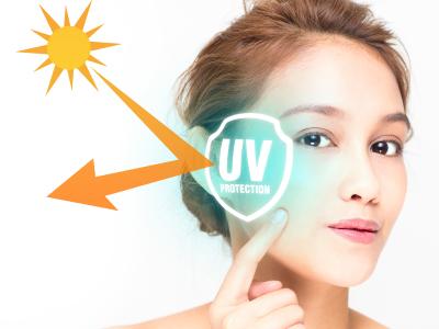 UVカットしている女性