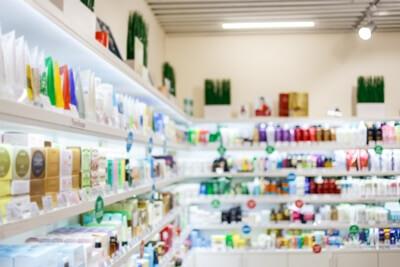 商品が陳列されている店
